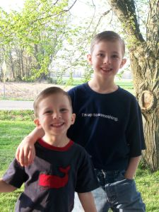 Jayden and Timothy new haircuts