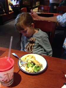 Fell asleep at dinner