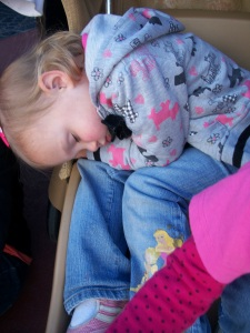 She didn't make it till the parade!  Oh well better for all if she gets a nap.