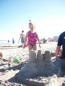 Jessica and Mommy's Sandcastle